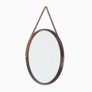 Großer runder Spiegel von Luxus, 1960er