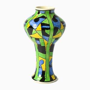 Geometrische Vase von Boch Frères, 1920er