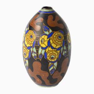 Polychrome Vase von Boch Keramis, 1920er