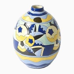 Vase von Charles Catteau & G. Tecqmenne für Boch Keramis, 1930er