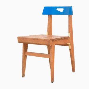 Blauer A Stuhl von Lucien Engels, 1950er