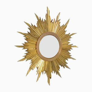 Antique Bronze Sunburst Mirror
