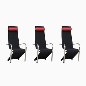 Dutch Black & Red Postmodern Dining Chair, 1980s