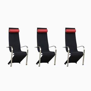 Niederländischer postmoderner Stuhl in Schwarz & Rot, 1980er