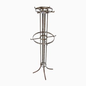 Antique Industrial Metal Coat Rack