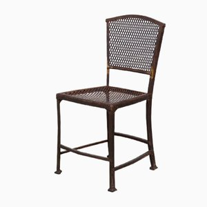 Antique Art Nouveau Garden Chair by G. Serrurier Bovy