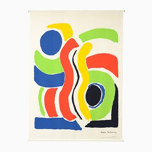 Large Print on Canvas of Sonia Delaunay by Jacques Damase, 1992
