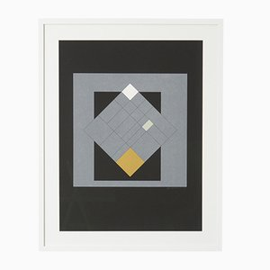 Abstract 69/150 Serigraph Silkscreen by Guy Vandenbranden, 1970s