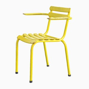 Industrial Yellow Metal Chair, 1950s