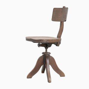 Silla de escritorio antigua de madera