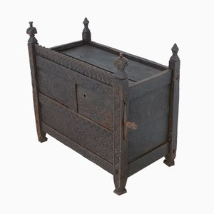 Antique Pakistani Hand-Carved Swat Chest
