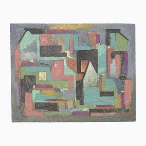 Abstract Oil on Hardboard Painting, 1956