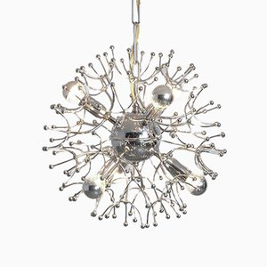 Chrome Sputnik Chandelier, 1960s
