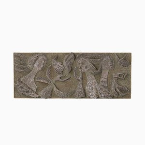 Belgische Wandskulptur aus Keramik, 1960er