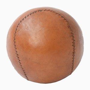 Antiker Medizinball aus Leder