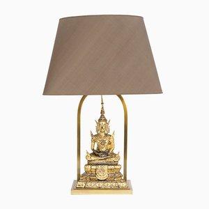 Vergoldete Buddha Tischlampen aus Messing, 1970er, 2er Set