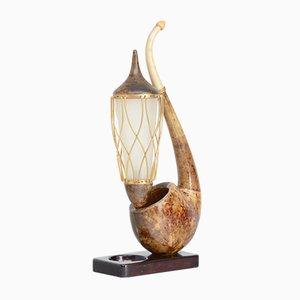 Surreal Pipe Tischlampe von Aldo Tura, 1950er