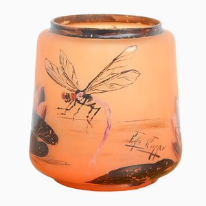 Handbemalte Jugendstil Vase von Victor Winner