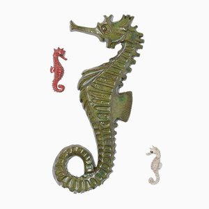 Seahorse Ceramic Wall Sculptures by Amphora, 1960s, Set of 3