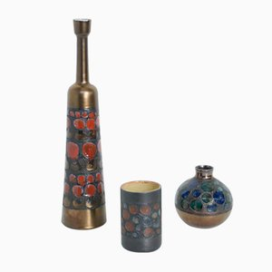 Keramik Vasen von Perignem, 1970er, 3er Set