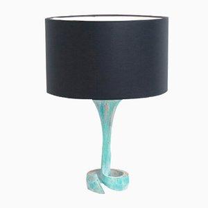 Oxidierte Kupfer Tischlampe, 1970er