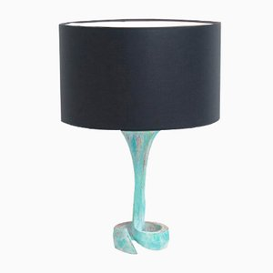 Oxidized Copper Table Lamp, 1970s