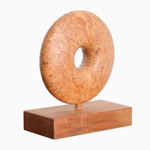 Geometric Walnut Sculpture, 1980s