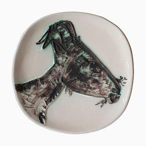 Picasso Keramik Teller mit Ziegenkopf in Profil-Optik von 60, 1950er
