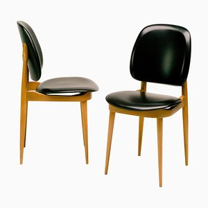 French Side Chairs by Pierre Guariche, 1960s, Set of 2