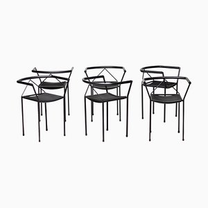 Poltroncina Chairs by Maurizio Peregalli, 1984, Set of 6