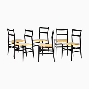 699 Superleggera Chairs by Gio Ponti for Cassina, Set of 6