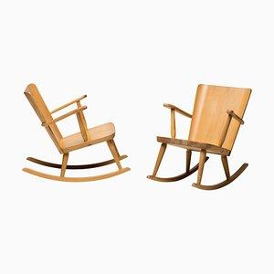 Scandinavian Pine Rocking Chair, 1950s