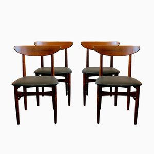 Rosewood Dining Chairs by E W Bach for Skovby, 1960s, Set of 4