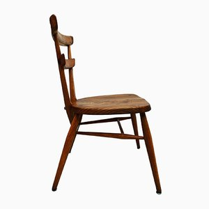 Small Blue Dot Wooden Chair from Ercol, 1950s