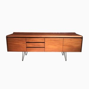 Vintage Minimalistic Danish Sideboard on Metal Hairpin Leg
