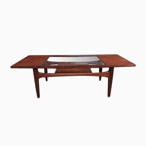 Tavolino da caffè vintage in teak e vetro di G-Plan