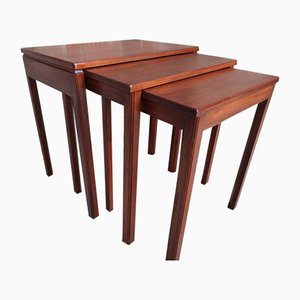 Tables Gigognes Vintage en Teck, Set de 3