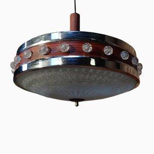 Lampe à Suspension en Métal et en Plastique A, 1960s
