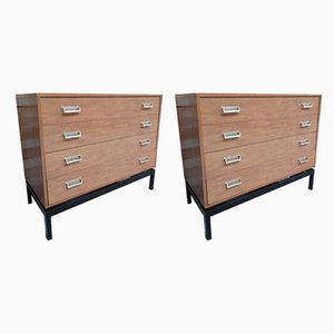 set of two Vintage Retro Teak Chest of Drawers with Metal Base, 1960s