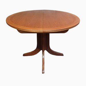 Danish Extendable Teak Dining Table with X-Legs