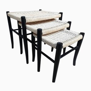 Danish Cord Nesting Tables