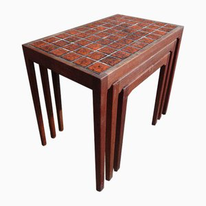 Large Danish Teak Gelsted Nesting Tables