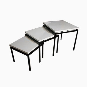 Black Metal Nesting Tables from Stiemsma