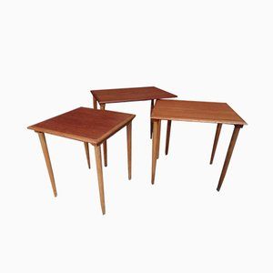 Large Danish Teak Side Tables from Bramin