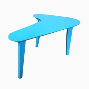 Blue Painted Boomerang Side Table, 1960s