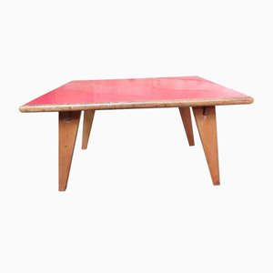 Red Melamine Top Table, 1950s