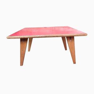 Roter Tisch mit Melaminplatte, 1950er