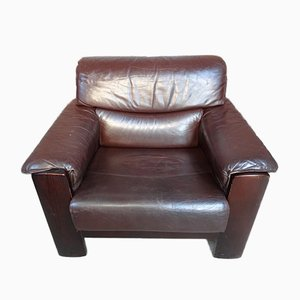 Vintage Dutch Leather Armchair from Leolux