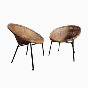 Sedie vintage in vimini di Lloyds Loom