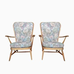 Fireside Armchairs Blond Windsor Grandfather Easy Chair from Ecrol